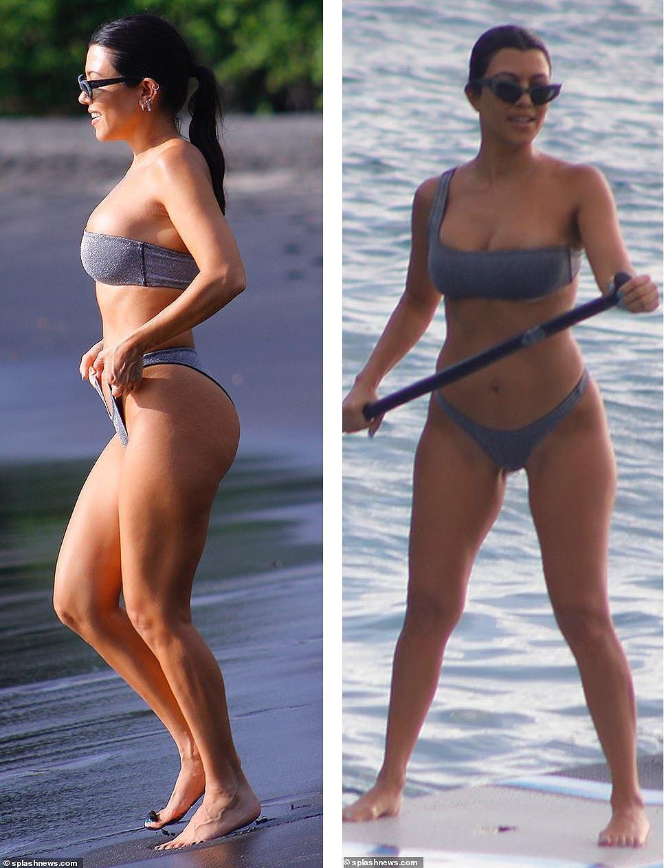 Chị cả nhà Kardashian 'thiêu đốt' bãi biển trong kỳ nghỉ cùng gia đình Ảnh 3