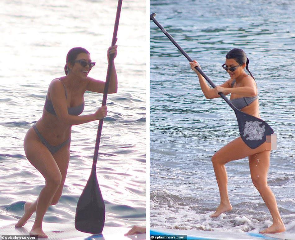 Chị cả nhà Kardashian 'thiêu đốt' bãi biển trong kỳ nghỉ cùng gia đình Ảnh 6
