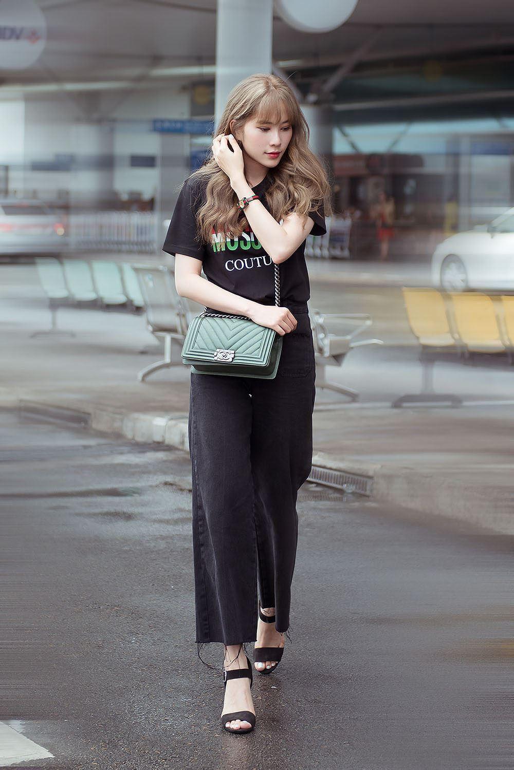 Nam Em bị nhầm là gái Hàn với mái tóc vàng hoe ở sân bay Ảnh 4