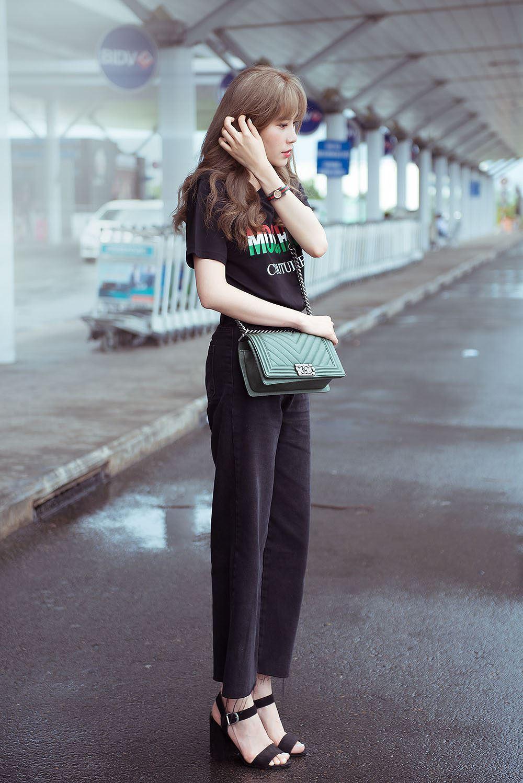 Nam Em bị nhầm là gái Hàn với mái tóc vàng hoe ở sân bay Ảnh 3