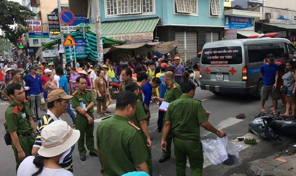Cô gái trẻ tử vong sau tiếng va đập mạnh trên phố Sài Gòn Ảnh 2