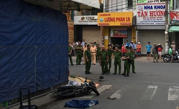 Cô gái trẻ tử vong sau tiếng va đập mạnh trên phố Sài Gòn Ảnh 1