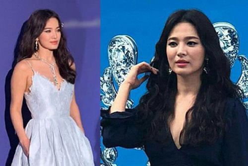 Hậu ly hôn, Song Hye Kyo diện váy xẻ sâu lộ thân hình gầy guộc Ảnh 1