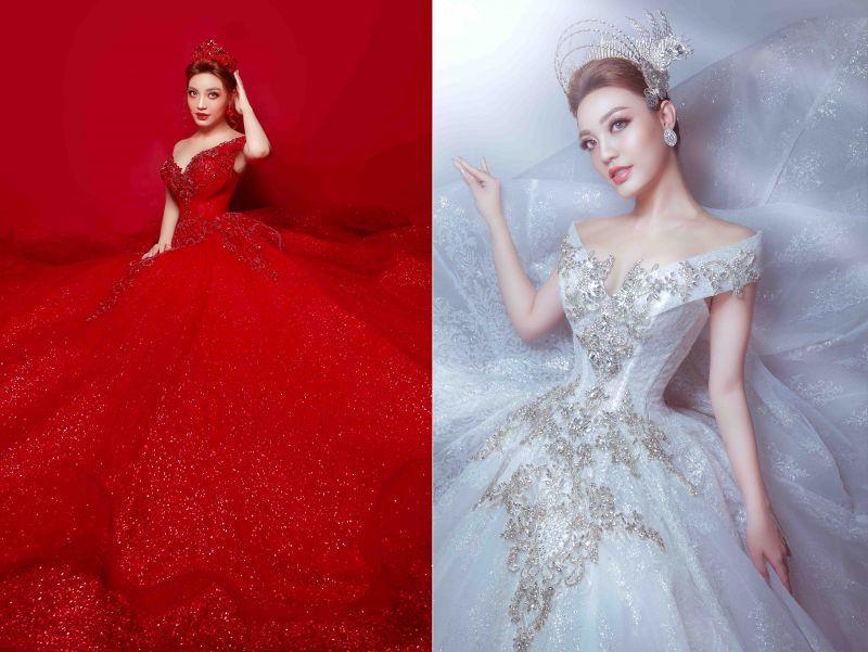 Lý San Nghi hóa cô dâu đa phong cách đầy cá tính Ảnh 4