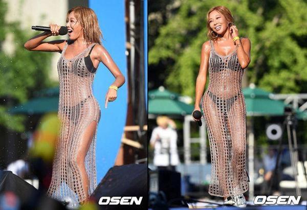 Những màn ăn mặc thiếu vải 'thiêu đốt' ánh nhìn của sao Hàn tại lễ hội Waterbomb Ảnh 6