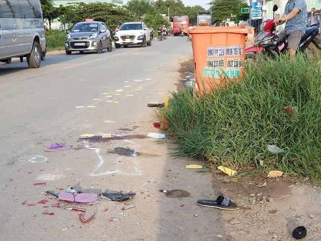 Bé gái ở Bình Dương chết thảm vì thùng rác bên đường Ảnh 1