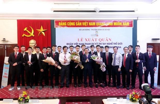 Đoàn Việt Nam quyết tâm 'đổi màu' huy chương tại Kỳ thi tay nghề Ảnh 1