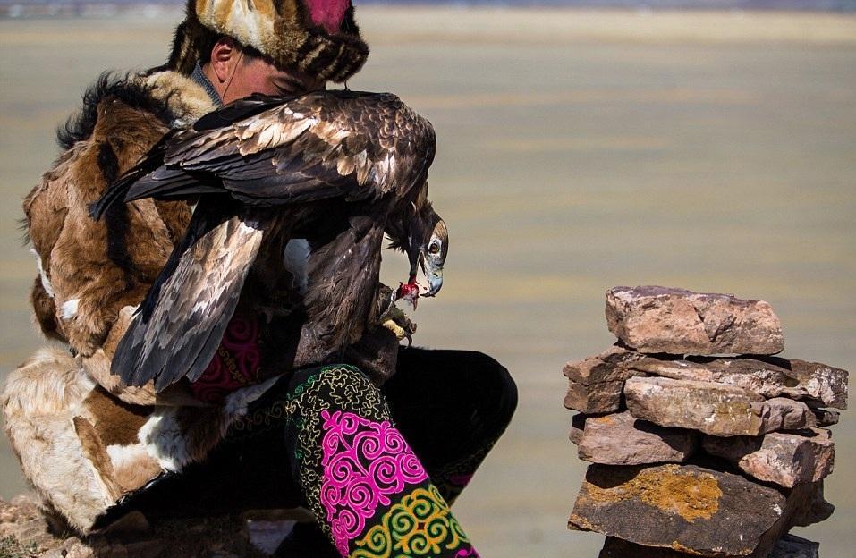 Cuộc sống của những người thợ săn bằng đại bàng ở miền Tây Mông Cổ (Phần I) Ảnh 10