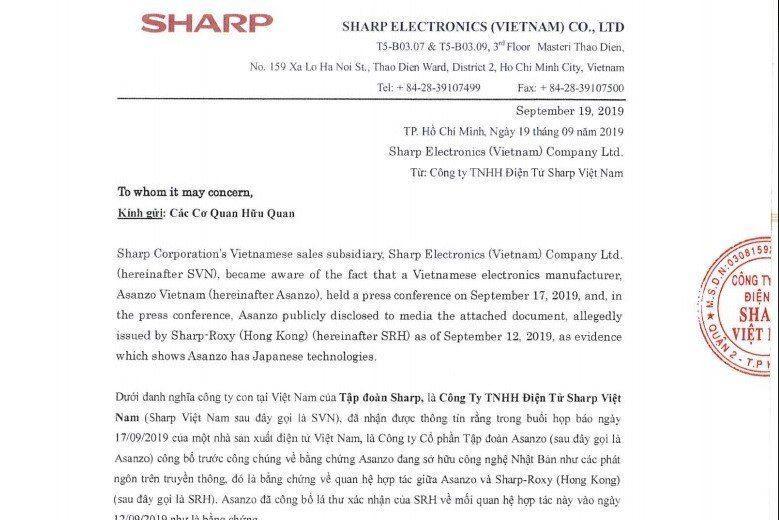 Tập đoàn Sharp Nhật Bản sẽ kiện Asanzo vì giả mạo bằng chứng Ảnh 2