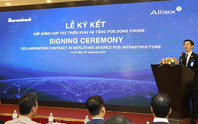 Sacombank tiên phong ký kết xài POS chung với Alliex Việt Nam Ảnh 2