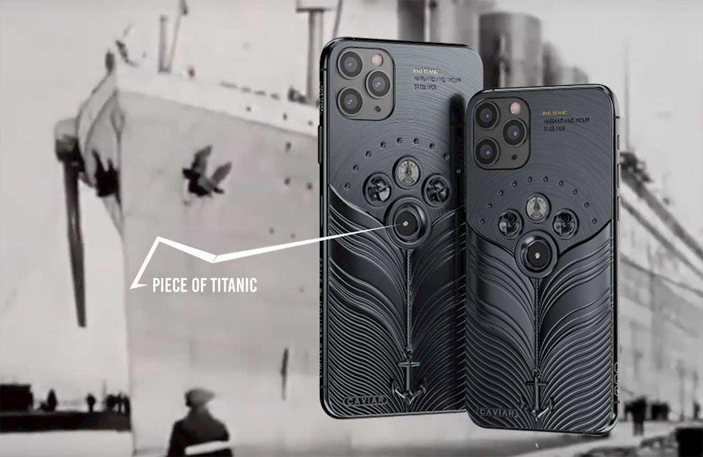 Phiên bản iPhone 11 được chế tác từ mảnh vỡ tàu Titanic và tàu vũ trụ Vostok-1, giá từ 784 triệu đồng Ảnh 2