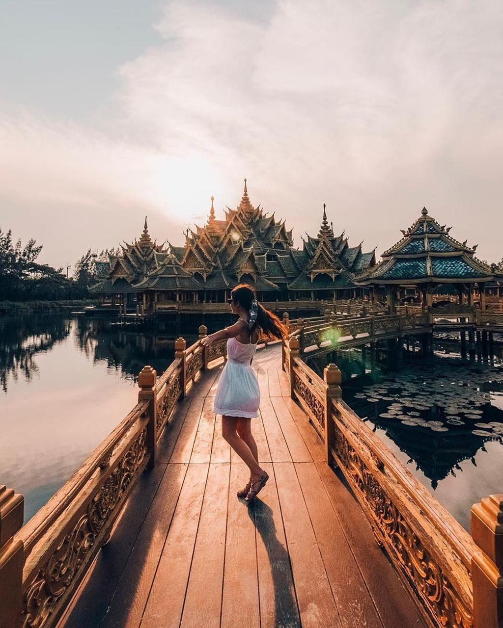 Thủy quái bao quanh ngôi đền trong thành cổ ở Thái Lan Ảnh 5