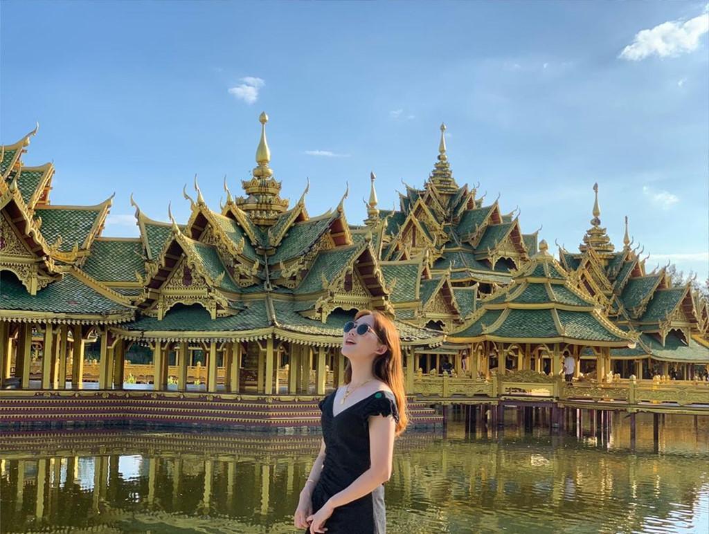 Thủy quái bao quanh ngôi đền trong thành cổ ở Thái Lan Ảnh 1
