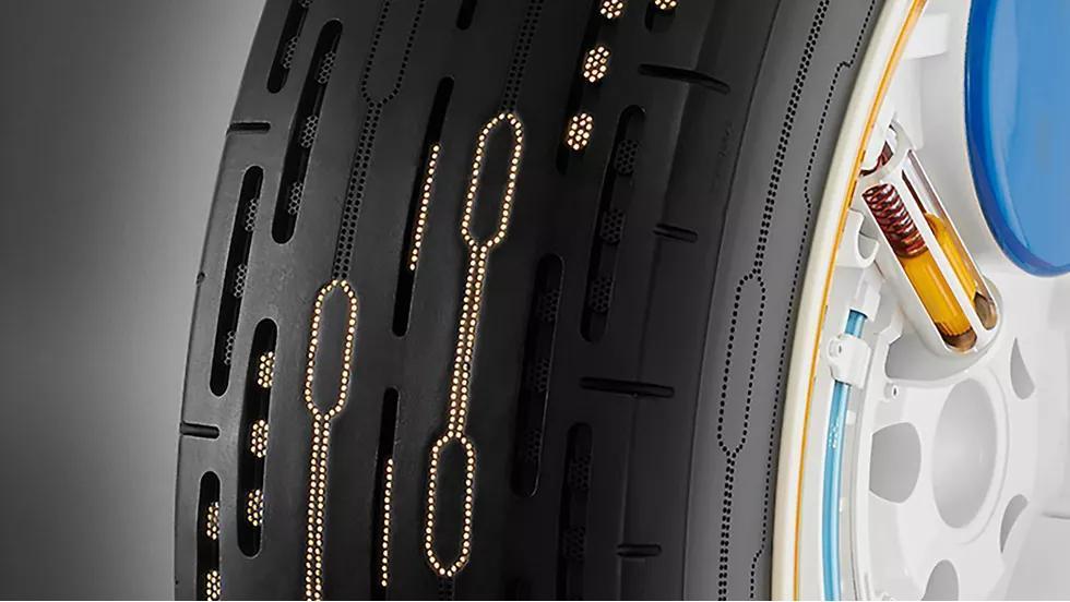 Phát minh ra loại lốp có khả năng tự bơm hơi Ảnh 3