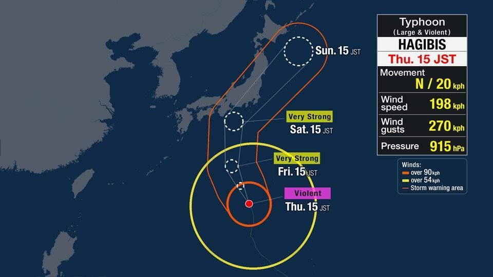 Bão lớn sắp đổ bộ vào Nhật Bản, thiệt hại khó lường trước Ảnh 1