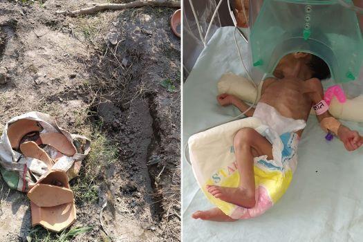Phát hiện bé gái sơ sinh Ấn Độ bị chôn sống Ảnh 2