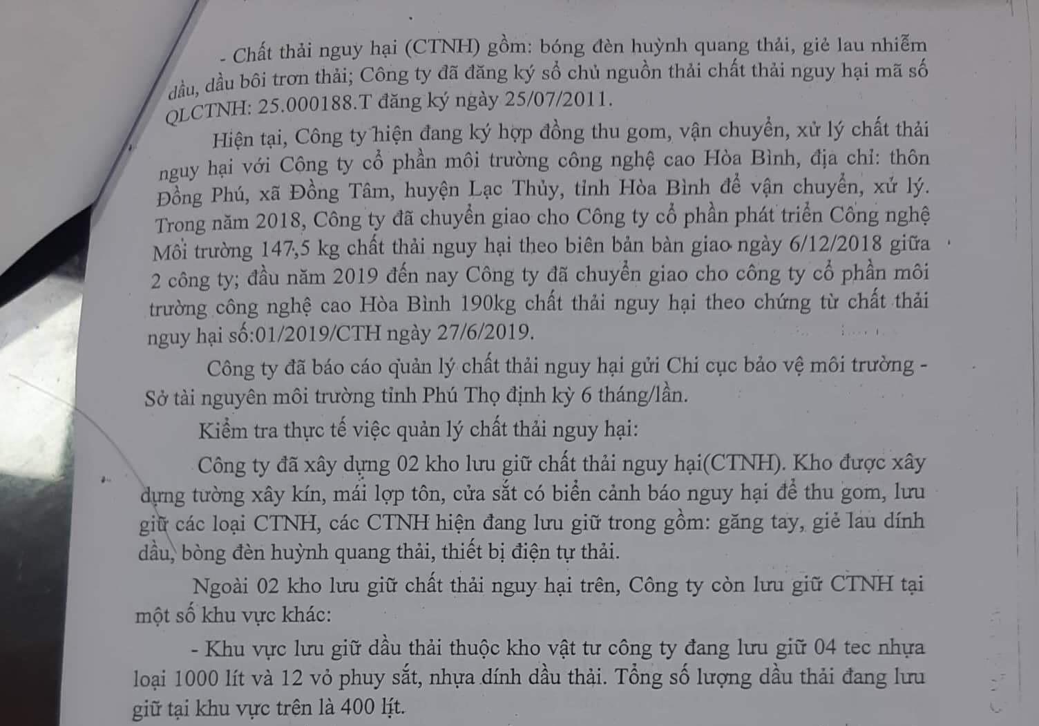 Vụ nước sông Đà bị 'đầu độc': Cty gốm sứ Thanh Hà khai báo gian dối? Ảnh 3