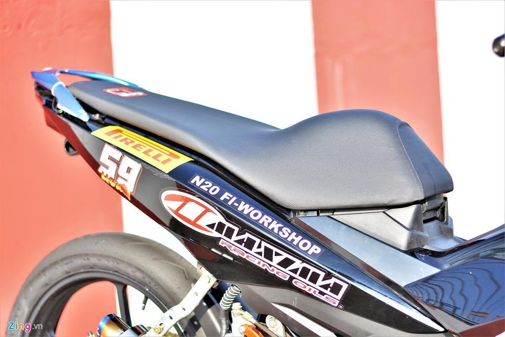 Yamaha Exciter 150 thay đổi ra sao để biến thành xe đua? Ảnh 5