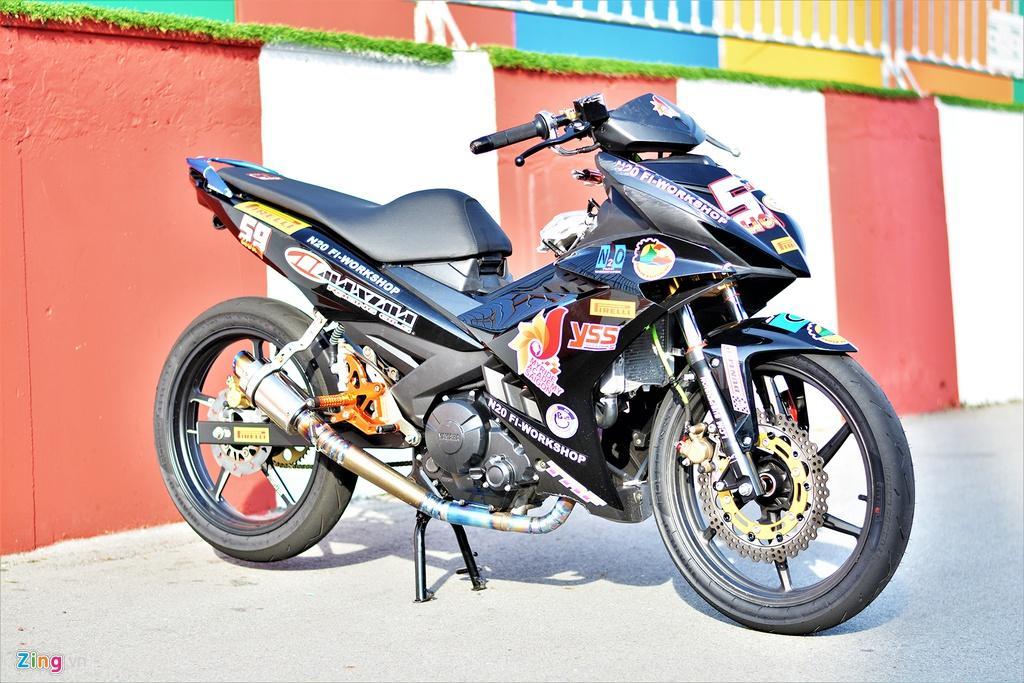 Yamaha Exciter 150 thay đổi ra sao để biến thành xe đua? Ảnh 1