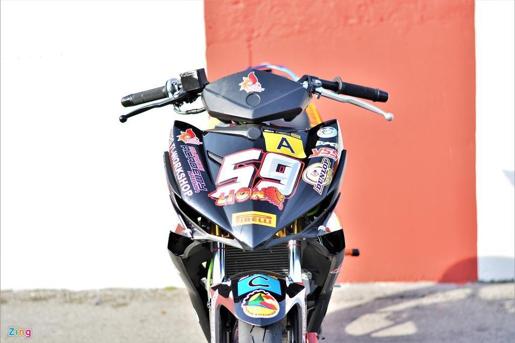 Yamaha Exciter 150 thay đổi ra sao để biến thành xe đua? Ảnh 3
