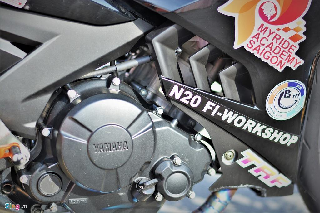 Yamaha Exciter 150 thay đổi ra sao để biến thành xe đua? Ảnh 10