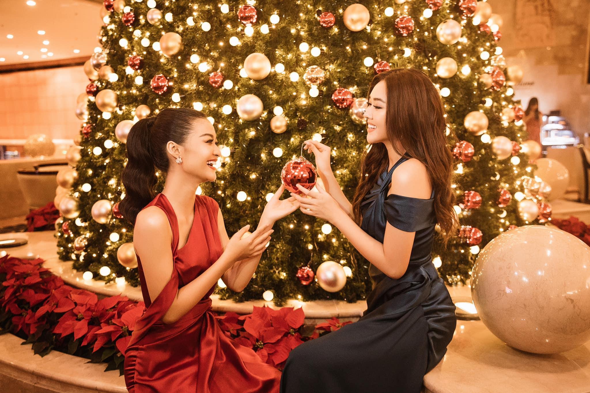Á hậu Tường San, Kiều Loan đón Giáng sinh sớm với váy áo gam màu nóng bỏng Ảnh 5