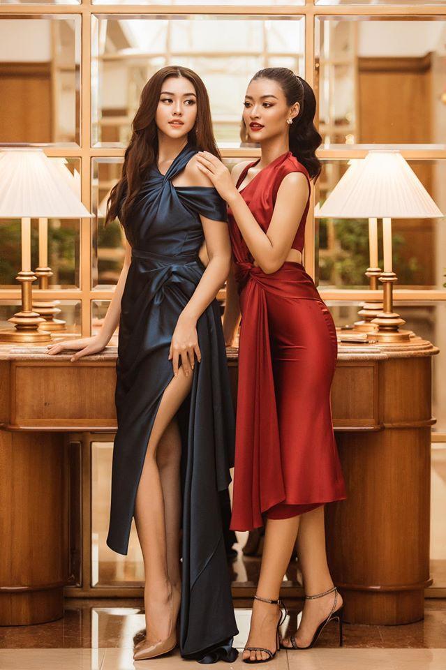 Á hậu Tường San, Kiều Loan đón Giáng sinh sớm với váy áo gam màu nóng bỏng Ảnh 1
