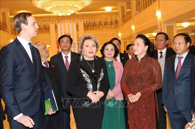Lễ đón, hội đàm giữa Chủ tịch Quốc hội Nguyễn Thị Kim Ngân và Chủ tịch Hội đồng LB Nga Ảnh 5