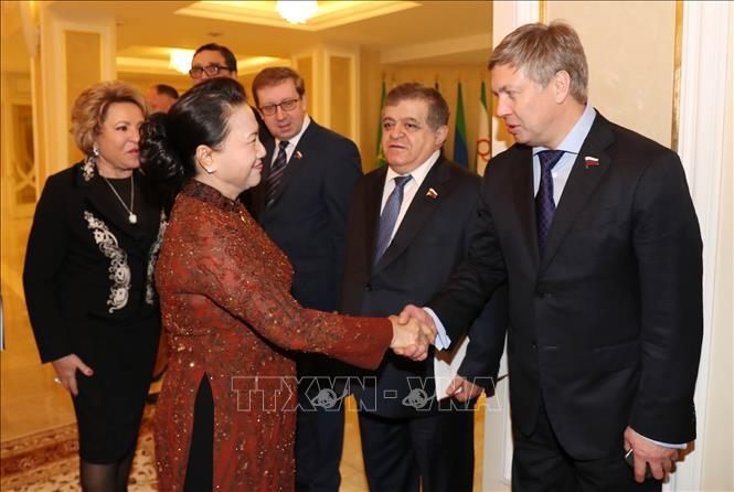 Lễ đón, hội đàm giữa Chủ tịch Quốc hội Nguyễn Thị Kim Ngân và Chủ tịch Hội đồng LB Nga Ảnh 4