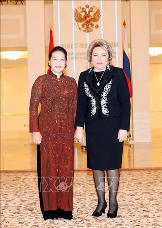 Lễ đón, hội đàm giữa Chủ tịch Quốc hội Nguyễn Thị Kim Ngân và Chủ tịch Hội đồng LB Nga Ảnh 2
