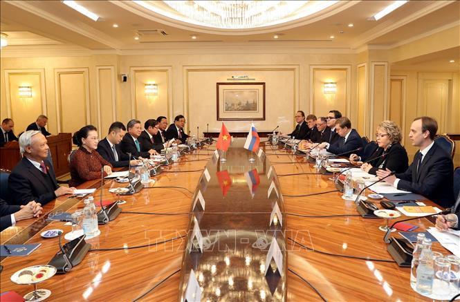 Lễ đón, hội đàm giữa Chủ tịch Quốc hội Nguyễn Thị Kim Ngân và Chủ tịch Hội đồng LB Nga Ảnh 3