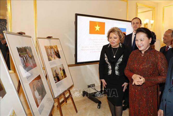 Lễ đón, hội đàm giữa Chủ tịch Quốc hội Nguyễn Thị Kim Ngân và Chủ tịch Hội đồng LB Nga Ảnh 7