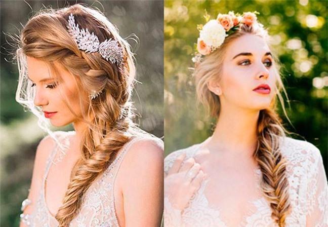 Loạt kiểu tóc siêu xinh cho cô dâu trong ngày cưới Ảnh 6