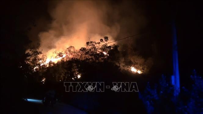 Điện Biên: Rừng cháy lớn trong nhiều giờ Ảnh 2