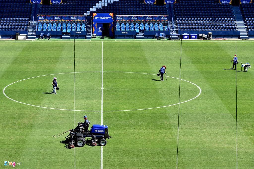 Sân Chang Arena trước ngày U23 Việt Nam đấu UAE Ảnh 17