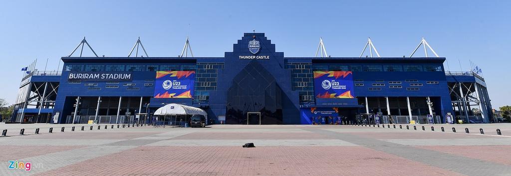 Sân Chang Arena trước ngày U23 Việt Nam đấu UAE Ảnh 3