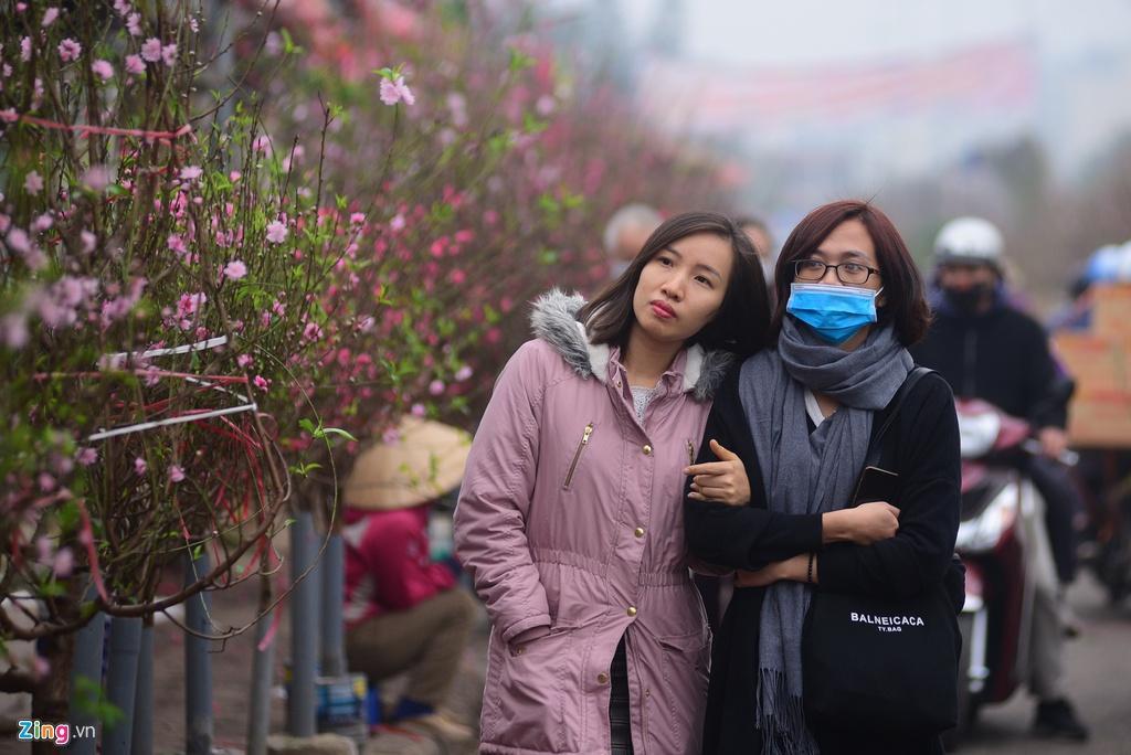 Đào bung nở ở chợ hoa lớn nhất Thủ đô Ảnh 3