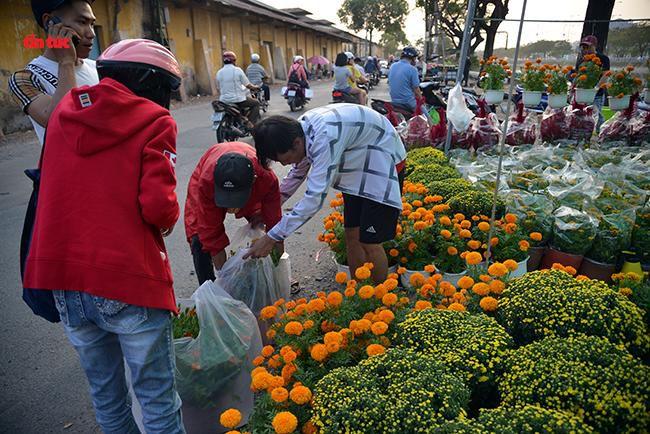 Nhộn nhịp chợ hoa Tết 'trên bến dưới thuyền' đầy sắc màu ở TP Hồ Chí Minh Ảnh 10