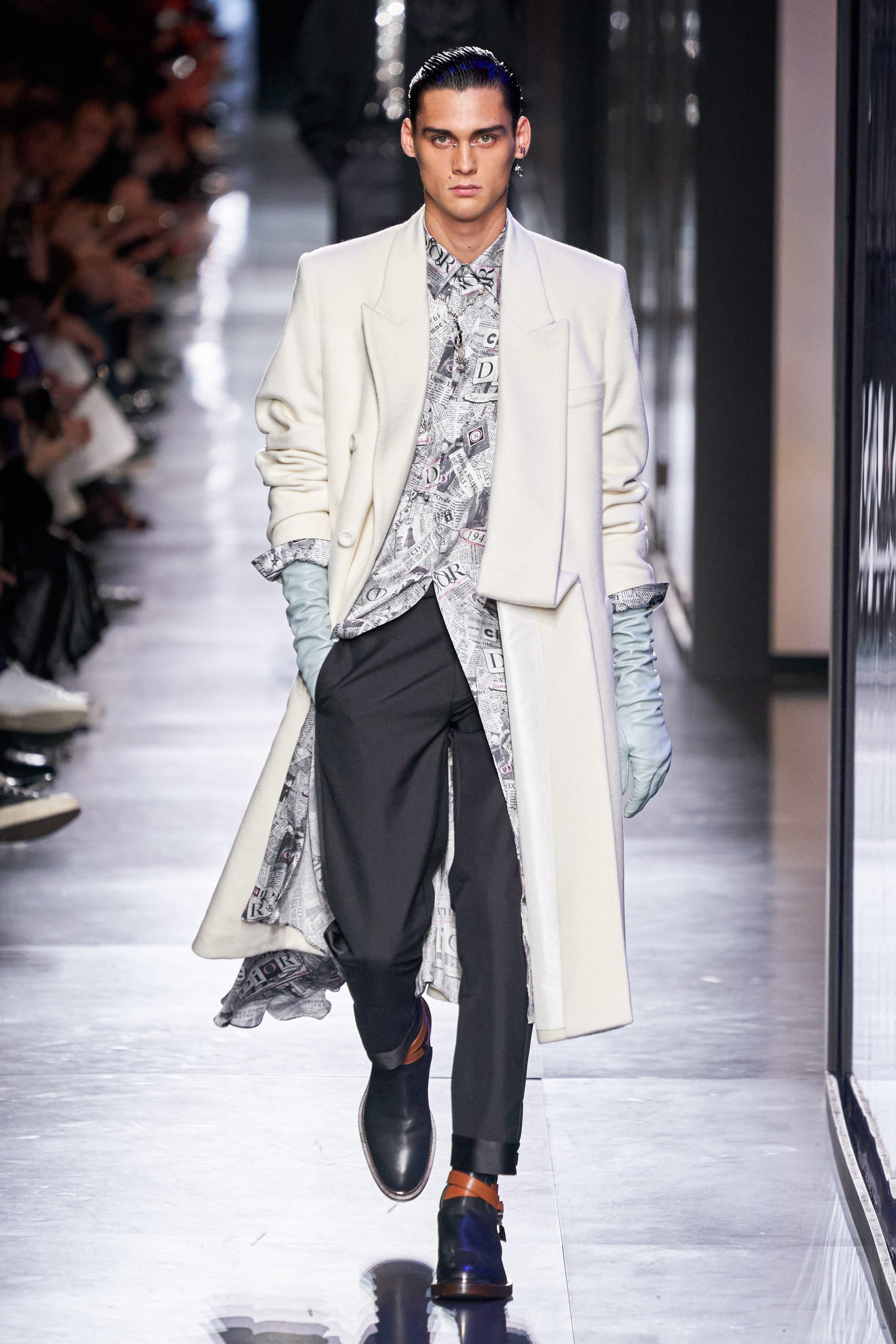 Áo khoác hoa, găng tay dài - Dior nâng thời trang nam lên tầm cao mới Ảnh 8