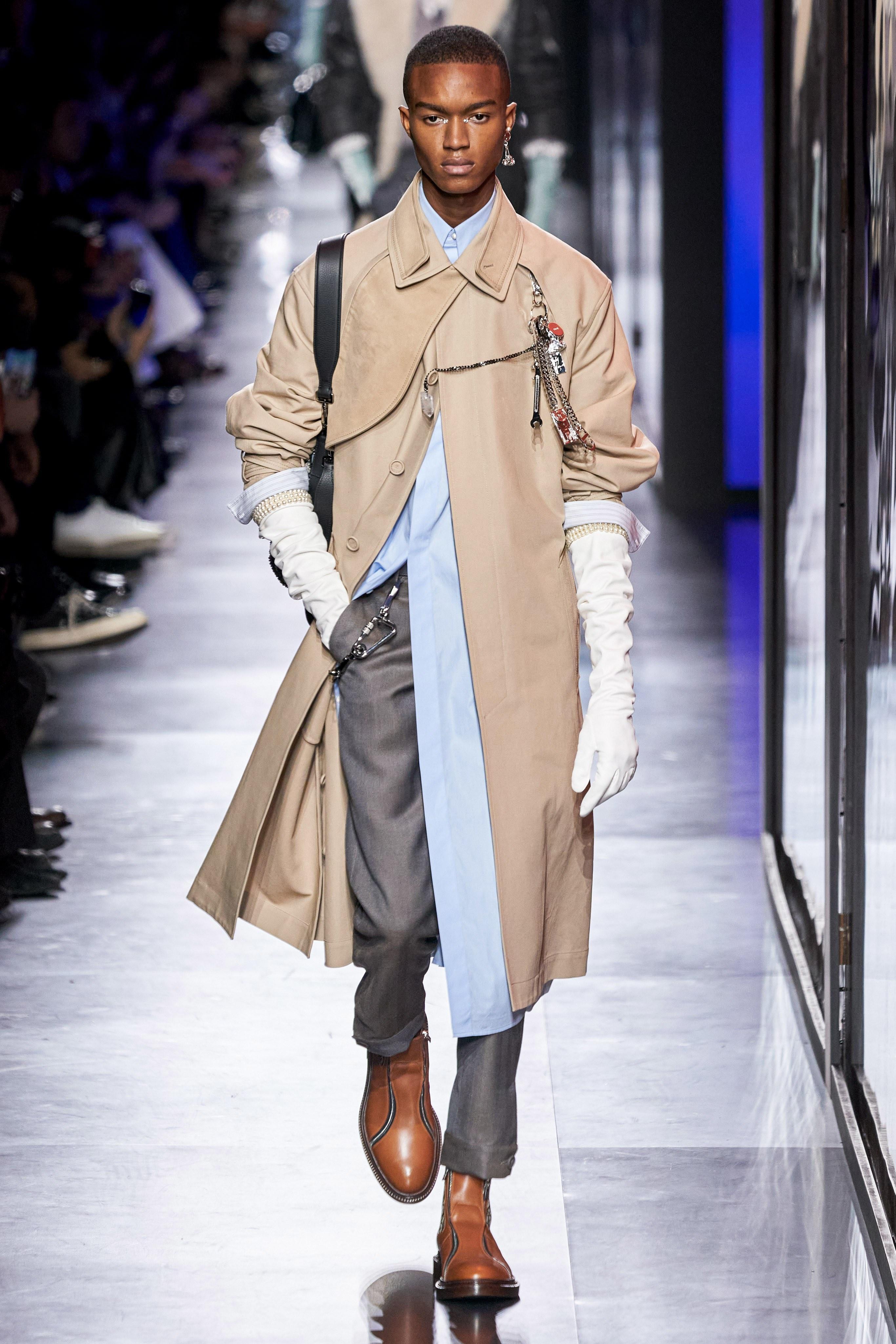 Áo khoác hoa, găng tay dài - Dior nâng thời trang nam lên tầm cao mới Ảnh 14