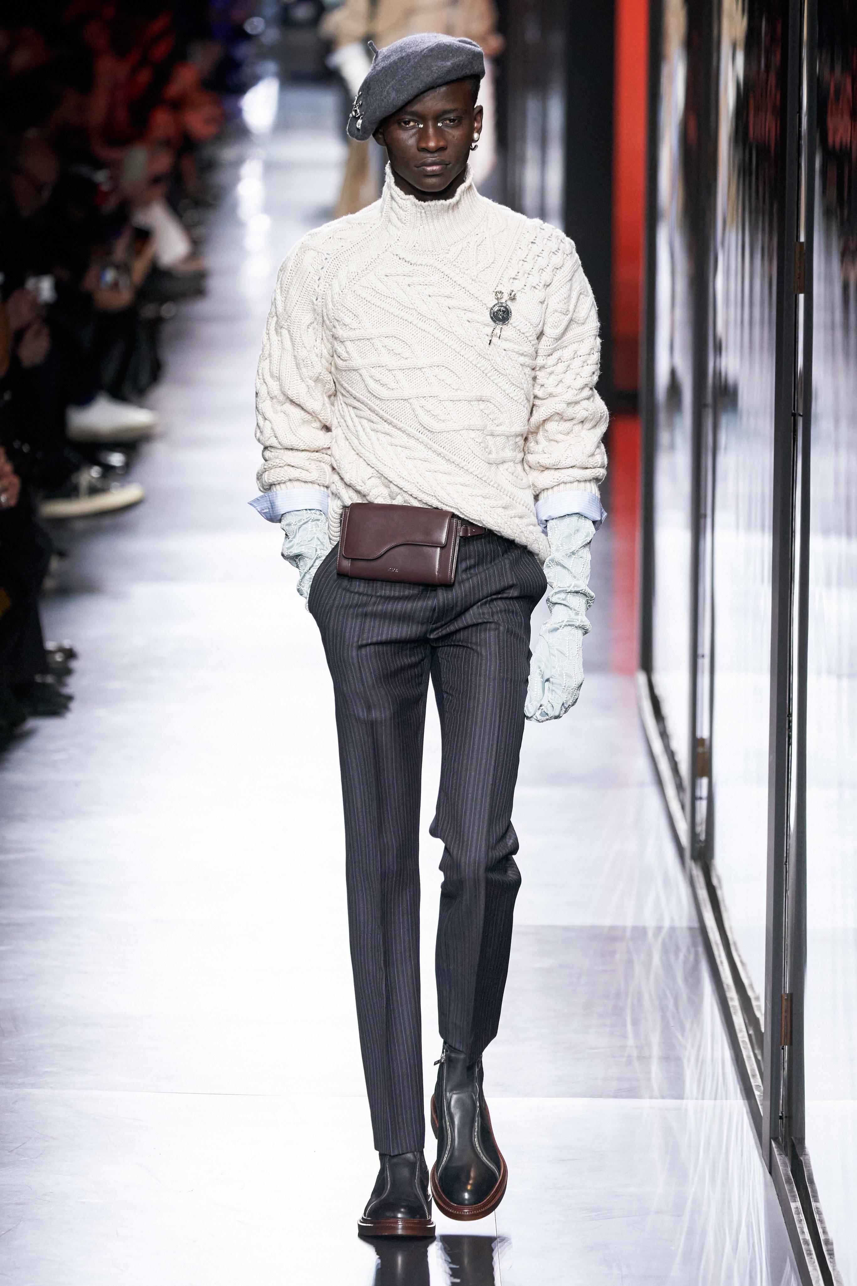 Áo khoác hoa, găng tay dài - Dior nâng thời trang nam lên tầm cao mới Ảnh 9