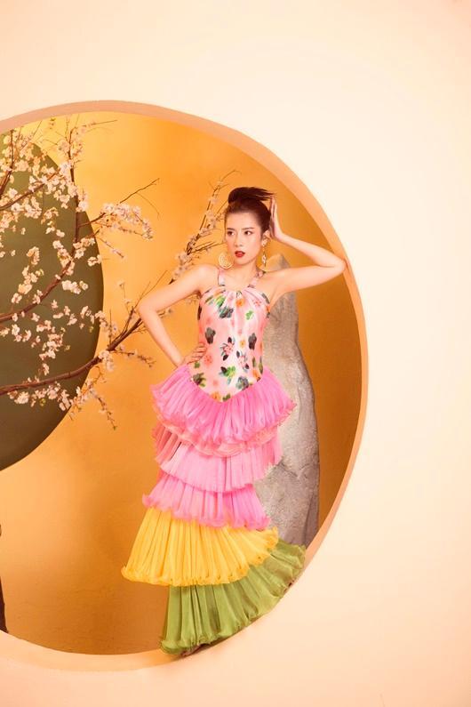 Người đẹp Dương Yến Nhung khoe vẻ đẹp e ấp đón xuân Ảnh 3