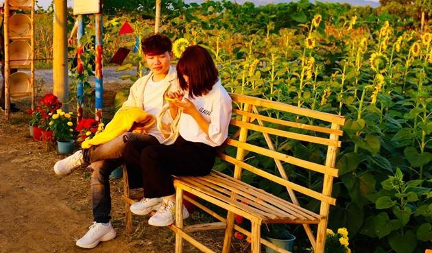 Check-in vườn hoa hướng dương rực rỡ ở Đồng Nai ngày đầu năm mới 2020 Ảnh 4