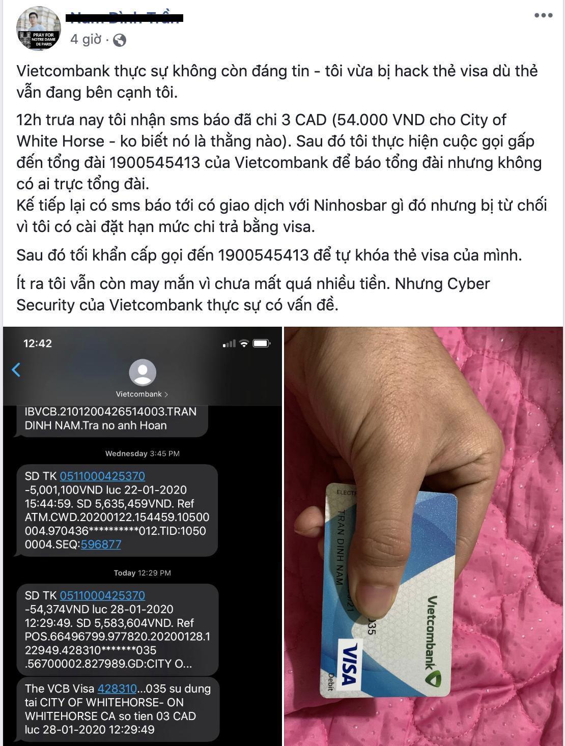 Nhiều khách hàng tố Vietcombank dính lỗi bảo mật hàng loạt Ảnh 3