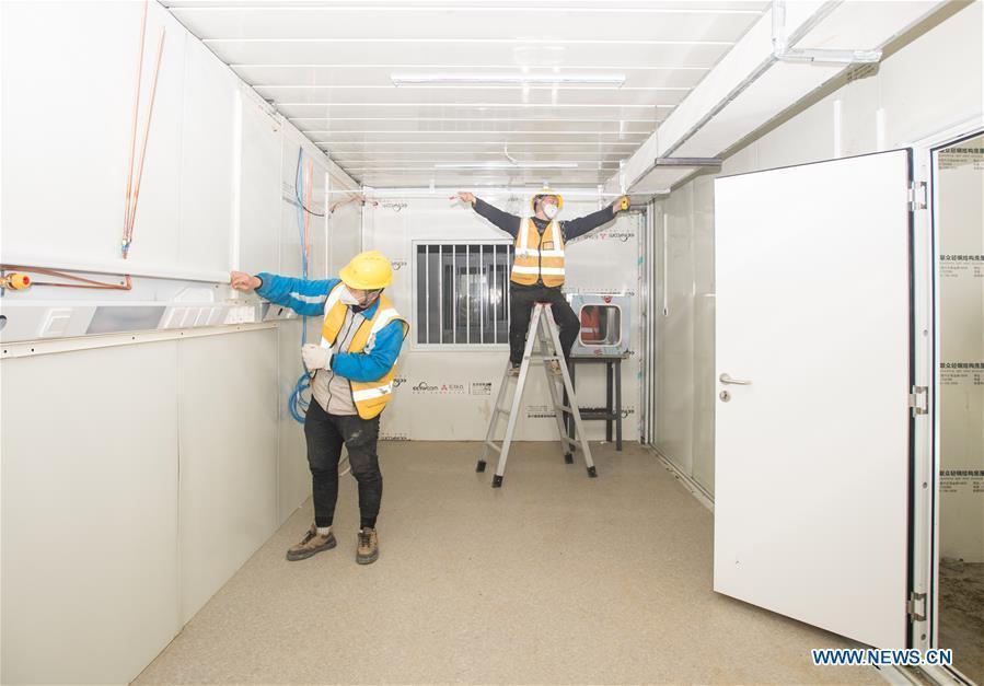 Cận cảnh bệnh viện dã chiến ở Vũ Hán, Trung Quốc dự kiến khánh thành trong hôm nay Ảnh 6