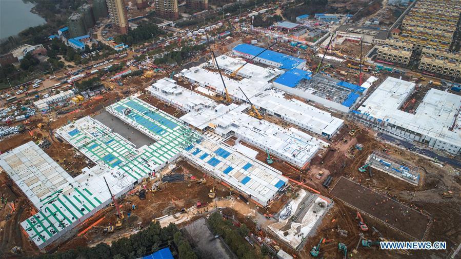 Cận cảnh bệnh viện dã chiến ở Vũ Hán, Trung Quốc dự kiến khánh thành trong hôm nay Ảnh 10