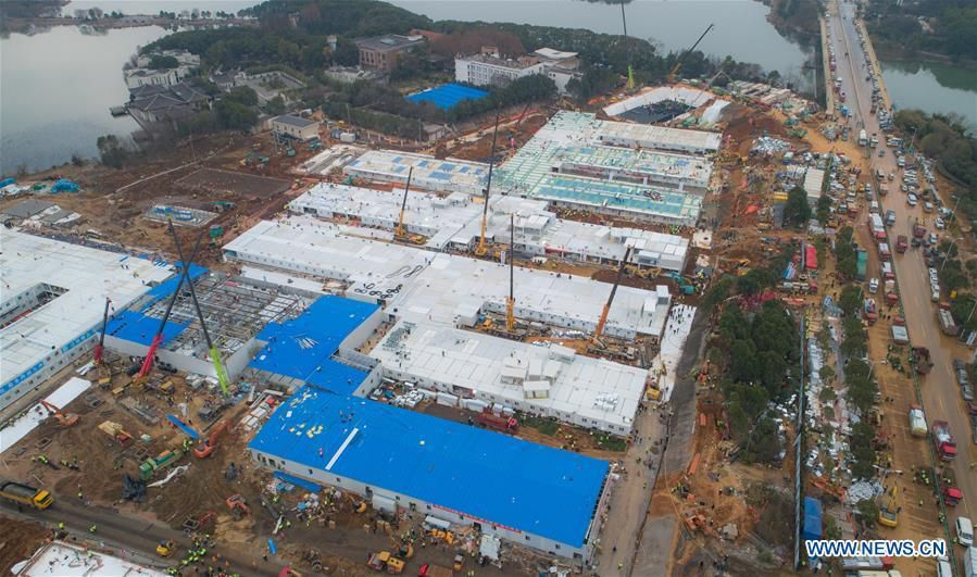Cận cảnh bệnh viện dã chiến ở Vũ Hán, Trung Quốc dự kiến khánh thành trong hôm nay Ảnh 2