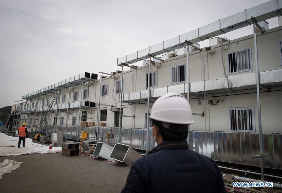 Cận cảnh bệnh viện dã chiến ở Vũ Hán, Trung Quốc dự kiến khánh thành trong hôm nay Ảnh 9