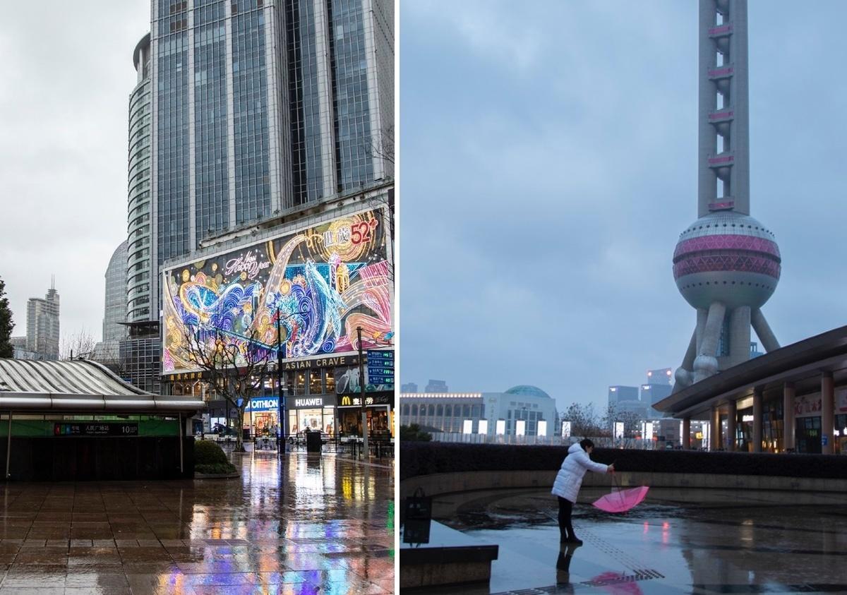 Thành phố Thượng Hải ' không bao giờ ngủ' bỗng thành 'thị trấn ma' giữa đại dịch virus corona Ảnh 22