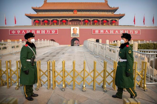 Đường phố trung tâm tài chính Bắc Kinh hoang lạnh vì dịch virus corona Ảnh 3
